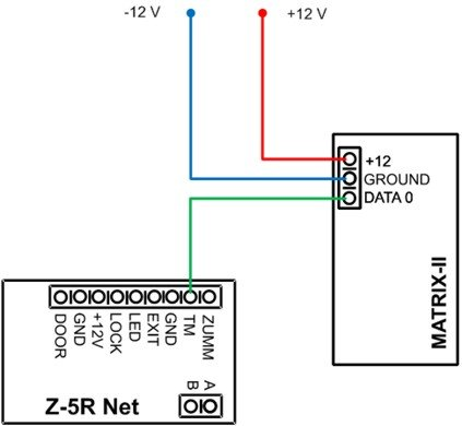 Схема подключения Z-5R Net