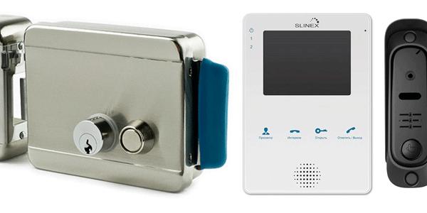 Электромеханический замок и видеодомофон